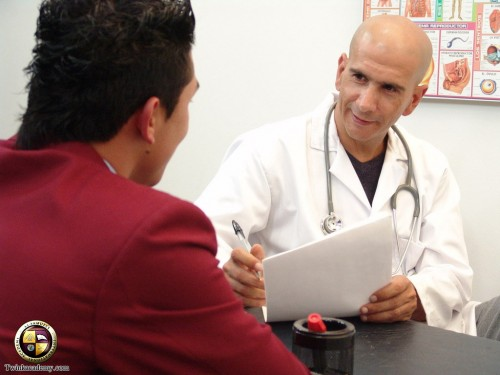 old doctor make horny medical exam for young boy