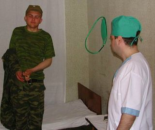 military boy medical exams